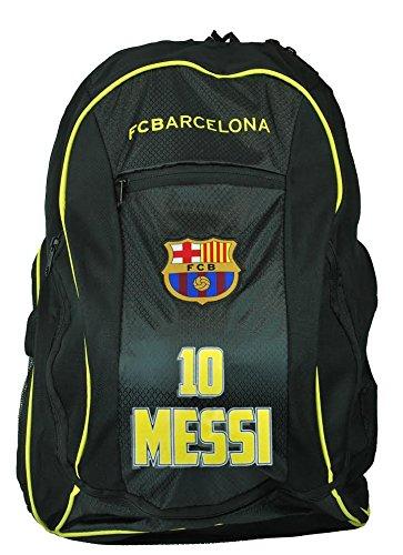 FC Barcelona Messi Soccer Backpack Schoolbag Adjustable Straps (Barcelona Ball Bag Messi)