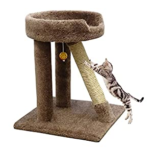 USA Made Sisal Cat Scratching Pole 24 inch Brown Cat Scratcher Lounger Carpet Posts