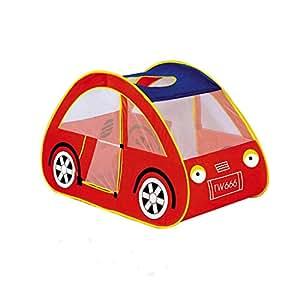 Crazo Tienda de Campaña Diseño Coche Rojo Interior Exterior para Niños Infantil
