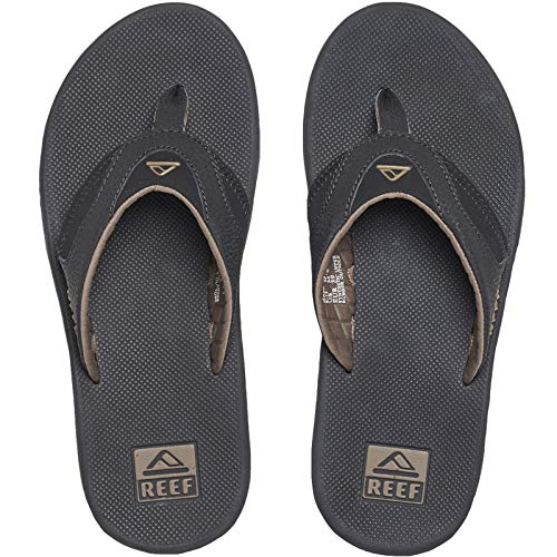 Reef Fanning Mens Sandals  Bottle Opener Flip Flops For Men,BLACK/BROWN,9 M US]()