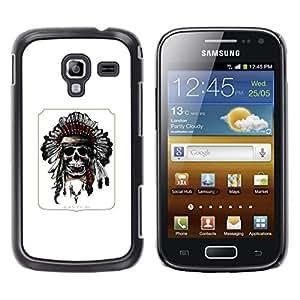 Be Good Phone Accessory // Dura Cáscara cubierta Protectora Caso Carcasa Funda de Protección para Samsung Galaxy Ace 2 I8160 Ace II X S7560M // Indian Poster Native American Skull