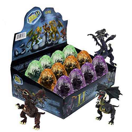 WolVol Dragon Dinosaurs - Set of 12 Eggs Take Apart Dinosaur Toys for Kids -