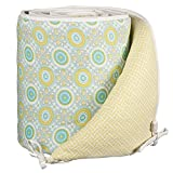 Lolli Living Animal Tree Bumper – Gio – 100% Cotton Crib Bumper, Reversible Design, Comfortable Protective Padding With Secure Ties, Fits Standard Crib