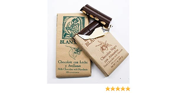 Amazon.com : Chocolate Bar with Nuts by Blanxart - Dark with Almonds (7 ounce) : Candy And Chocolate Bars : Grocery & Gourmet Food