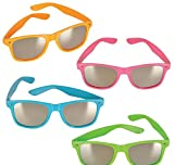 NEON COLOR SUNGLASSES WITH MIRROR LENS, Case of 156