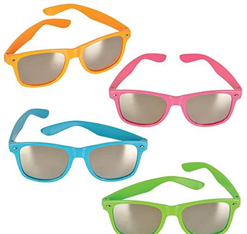 NEON COLOR SUNGLASSES WITH MIRROR LENS, Case of 156 by DollarItemDirect