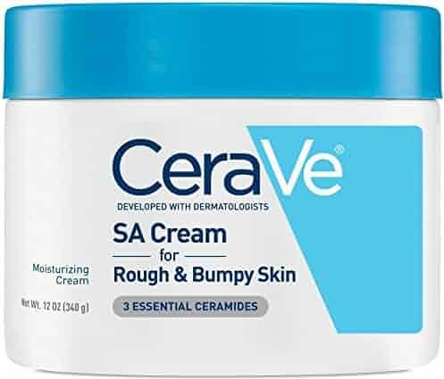 CeraVe Renewing SA Cream 12 oz Salicylic Acid Body Moisturizer for Rough and Bumpy Skin