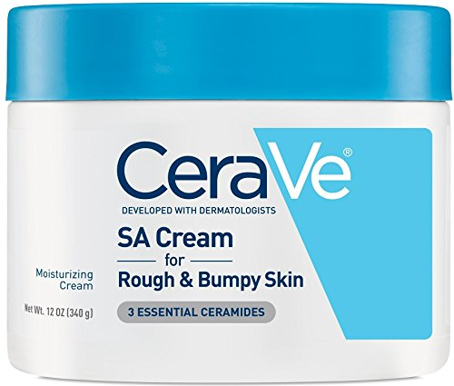 CeraVe Renewing SA Cream 12 oz Salicylic Acid Body Moisturizer for Rough and Bumpy Skin