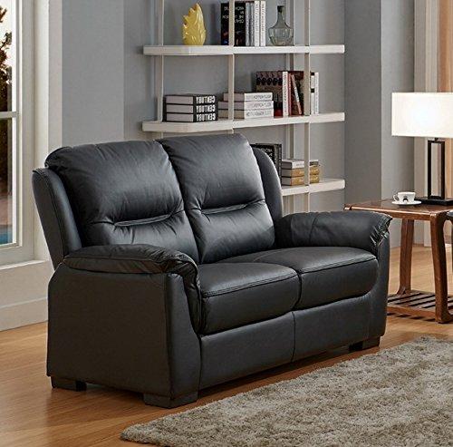 Sofá de cuero auténtico, de alta calidad. Juego de sillones ...