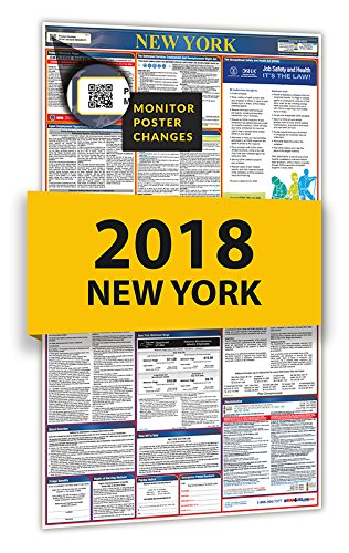 2018 New York All-In-One State & Federal Labor Law Posters for Workplace - New In York Store