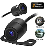 Amoner Mini Backup Camera – 170° Viewing Angle Universal Car Rear View / Side View, 2 in 1 Installation Option, Fit for most 12-V Vehicles For Sale