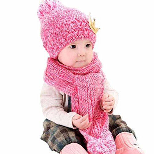 Baby Hat And Scarf Set, Malltop Cute Winter Warm Knited Hood Scarf Hats Coif