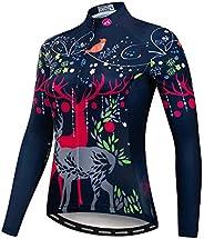 WeimoMonkey Cycling Long Sleeve Jersey Women Mountain Bike Jersey Shirts Long Road Bike Clothing