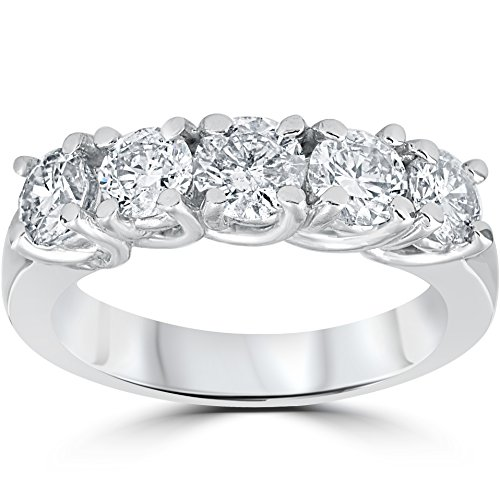 Diamond Anniversary Ring (1 1/2ct Diamond Wedding Anniversary Band 14k White Gold Ring)