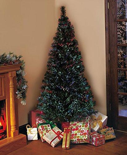 Christmas Tree Stand That Turns: 6 Foot Fiber Optic Christmas Trees