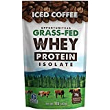 Kaffee Protein Powder - Grass Fed Whey Isolate + Colombian Coffee - Delicious Workout & Exercise Supplement For Smoothie, Shake, or Drink - No Artificial Chemicals, Sweeteners, or Flavorings - 1 lb