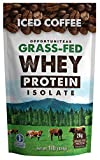 Coffee Protein Powder – Grass Fed Whey Isolate + Colombian Coffee – Delicious Workout & Exercise Supplement For Smoothie, Shake, or Drink – No Artificial Chemicals, Sweeteners, or Flavorings – 1 lb
