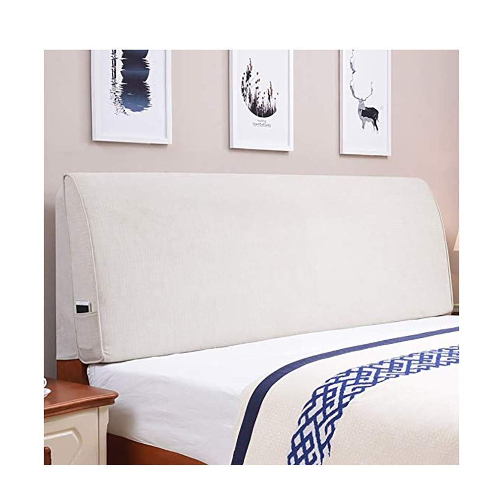 YANFEI Headboard Cushion Bed Back Cushion Backrest Softcase Fabric Washable Home Bedroom Simple Fashion Multifunction 8Size 5 Colors (Color : with headboard-190cm, Size : A)