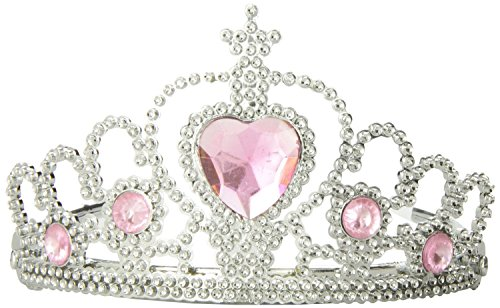 Fun Central AU589 12 Pack Tiaras with Heart Stones, Toy Jewelry, Princess Tiaras Costume, Princess Tiaras for Kids, Princess Costume Tiaras, Bluk Princess Tiaras, Party Pack Tiaras