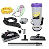 GV ProTeam Super CoachVac Commercial Backpack Vacuum Cleaner With Power head,Grey,1. 8pc powerhead kit & 10 bags