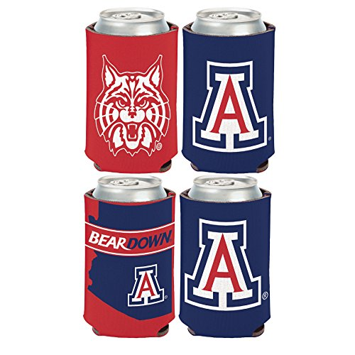 NCAA University of Arizona Wildcats 2 PACK 12 oz. 2-Sided Can Coolers