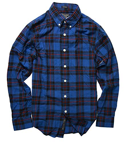 - Abercrombie & Fitch Men's Button Down Shirt (Relaxed Fit Blue, XS)