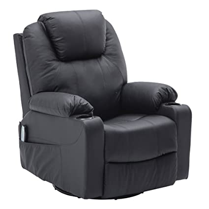 Exceptionnel MCombo 8031 Modern Massage Recliner Vibrating Sofa Heated Electric Leather  Lounge Chair, Black