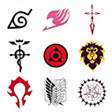 MOEDA Anime Cosplay Temporary Tattoo Sticker Waterproof