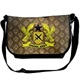 Lov6eoorheeb Unisex Coat Of Arms Of Ghana Wide Diagonal Shoulder Bag Adjustable Shoulder Tote Bag Single Shoulder Backpack For Work,School,Daily