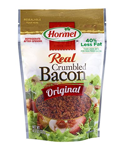 Hormel Premium Real Crumbled Bacon, 4.3-Ounce Pouches (Pack of 6)