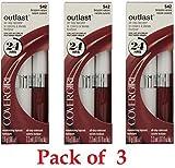 Covergirl Outlast Lipcolor, 542 Brazen Raisin (3 Pack)