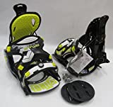 JR KIDS BUZRUN PYTHON FLOW-STYLE SNOWBOARD BINDINGS BLACK/YELLOW (BOOT SIZE: SMALL 2-6)