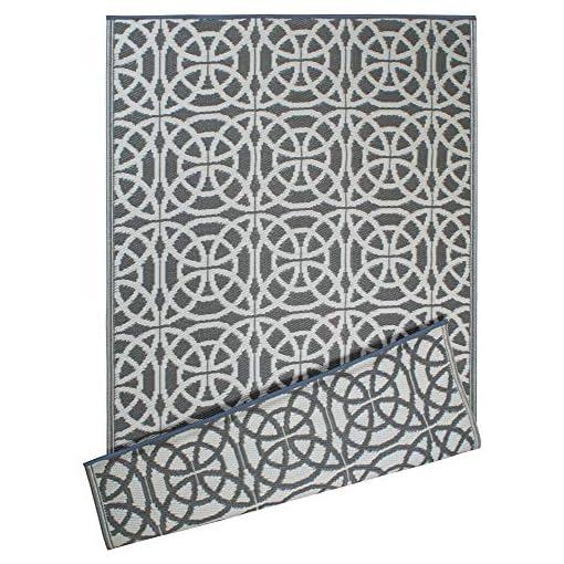 Garden and Outdoor DII Reversible Indoor/Outdoor Infinity Circle Woven Rug, 4 X 6′, Gray outdoor rugs