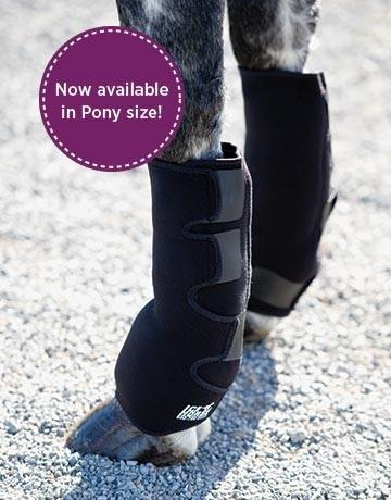 Ice Horse Full Horse Suspensory (Low Knee-to-Pastern Ankle Wraps) - Pair with 8 Cold Inserts by Ice Horse (Image #1)