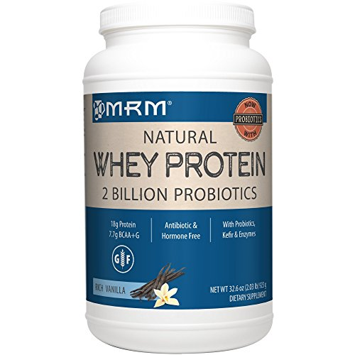 MRM – Whey Protein Powder, Maximum Muscle Growth and Development, with Essential Amino Acids Rich Vanilla, 2 lbs