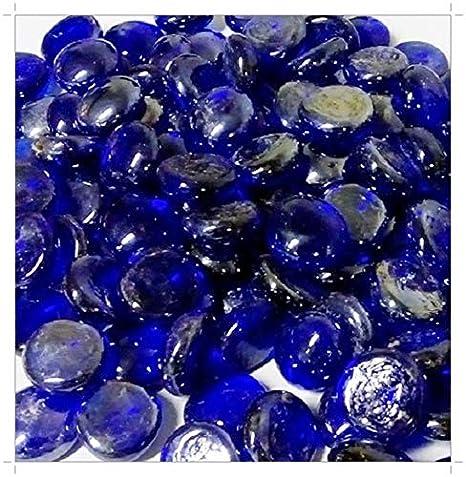 Piedras decorativas de cristal (500 g, 2 cm, 115 unidades), color azul cobalto: Amazon.es: Hogar