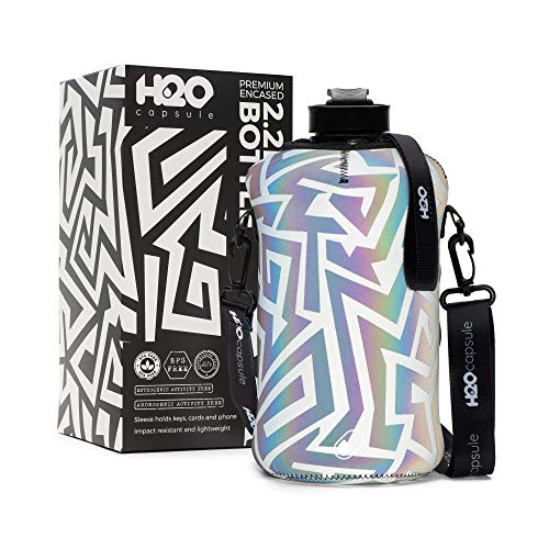H2O Capsule 2.2L Half Gallon Water Bottle with