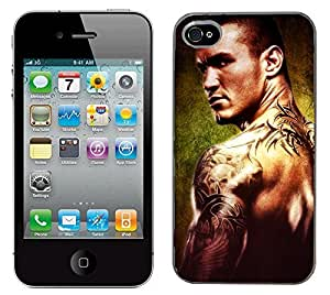 WWE Wrestling Randy Orton cas adapte iphone 4 et 4s couverture coque rigide de protection (1) case pour la apple i phone