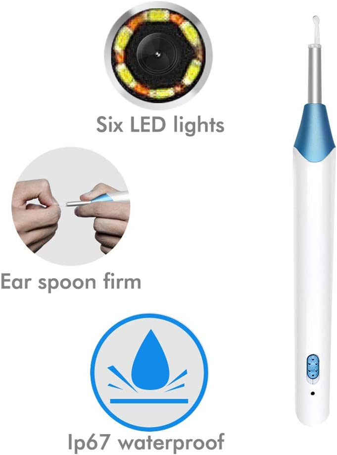 Universal Visual Earpick for Apple and Android Phones MROSW New WiFi High-Definition All-in-One Earpick Wireless Ear Picking Endoscope