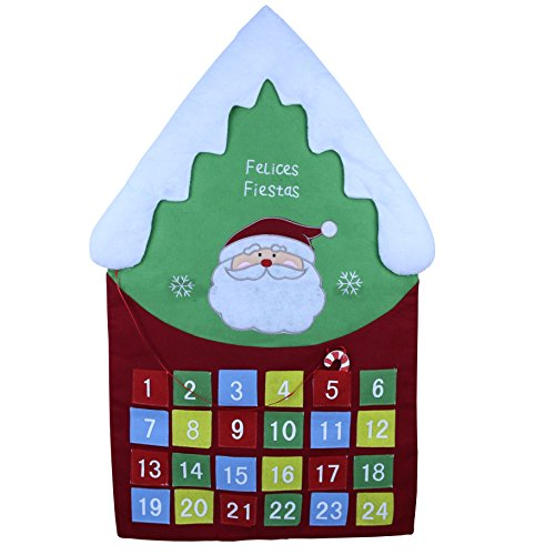 Wewill Santa Claus Advent Countdown To Christmas Calendar (Colorful) (Days 2017 Left Until Christmas)