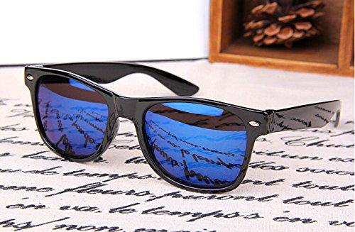 Sol Marco 1pcs Sol Sol de de Moda Resina Gafas Azul Metal de polarizadas de 48×55mm Azul Gafas Hombre Gafas y BIGBOBA Mujer Z0qACww