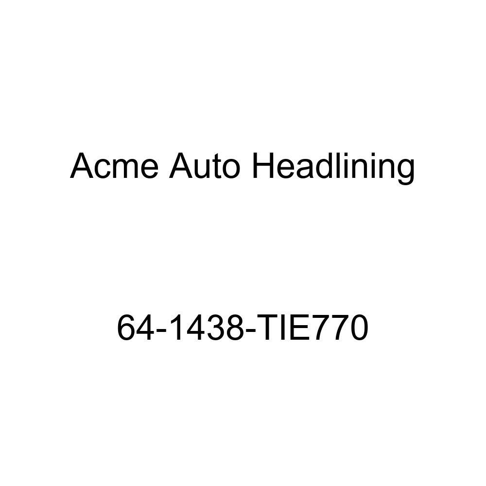 Chevrolet Chevy II 4 Door Wagon 8 Bow Acme Auto Headlining 64-1438-TIE770 Black Replacement Headliner