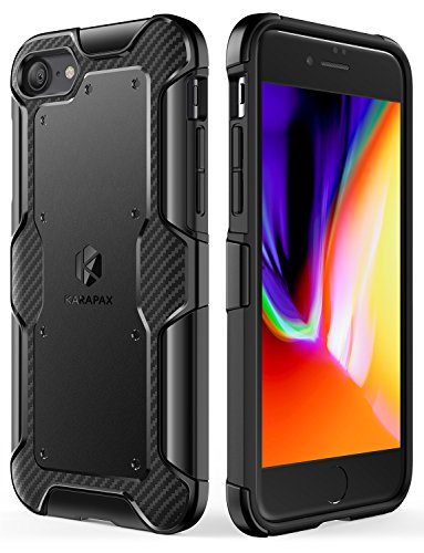 Anker AK-848061061987 iPhone 8/7 Case, Shield+ Case Dual Layer Heavy Duty Protective Military-Grade Certified Protection, Black ()