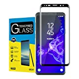 For Galaxy S9 Screen Protector,maxdemo High Definition Anti-Scratch Anti-fingerprint Bubble Free Tempered Glass Screen Protector for Samsung Galaxy S9