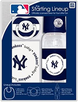 MLB Baby Fanatic Bib, Bottle & Pacifier Gift Set