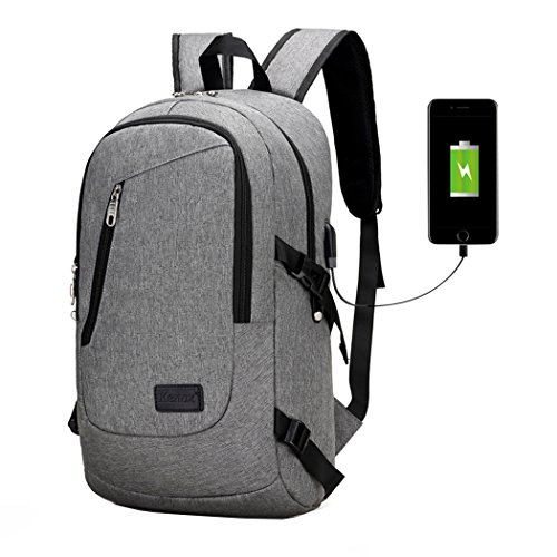 Kenox Notebook Backpack for 15 inch Laptop USB Port for Charging Electronic Devices