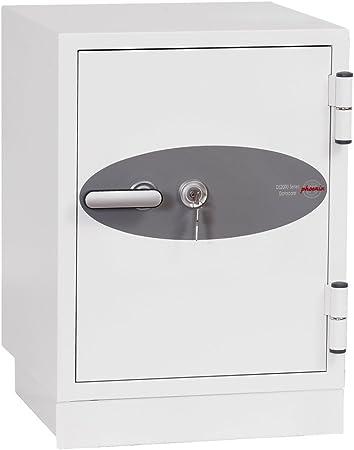 Phoenix DS2002K - Caja fuerte (Blanco, Llave plana, 470 mm, 470 mm, 610 mm, 245 x 195 x 380 mm): Amazon.es: Hogar