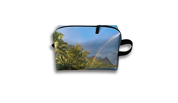 e1c864d3e99f Amazon.com: Lqzdqa Unisex Tourist Bag Rainbow Hawaii Beach Toiletry ...