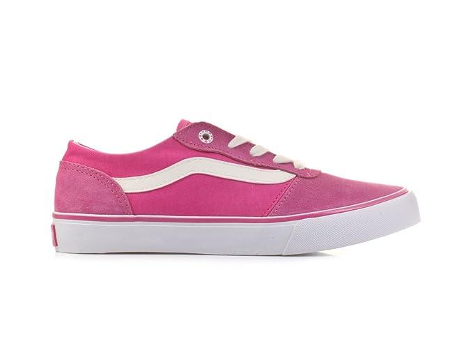 8cae2f0614843b Vans Womens Milton Shoes (Suede Canvas) Pink UK 2.5  Amazon.co.uk ...