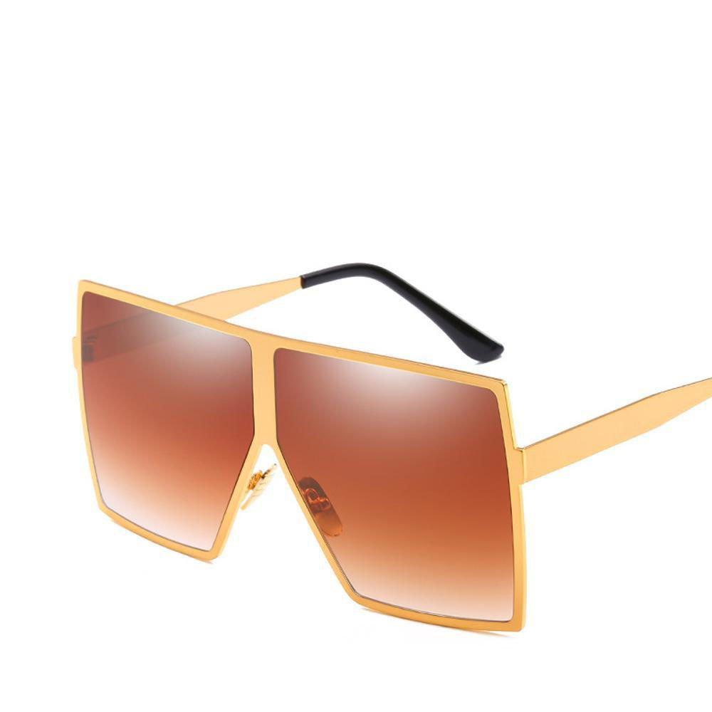 Aoligei Europa und die Vereinigten Staaten großen Rahmen Sonnenbrillen Mode Metallbox Sonnenbrille Schatten spiegeln männlicher und weiblicher Universal Lasses OdGhCfLV